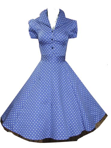 Blue Dot Rockabilly Swing Dress- I find this really cute