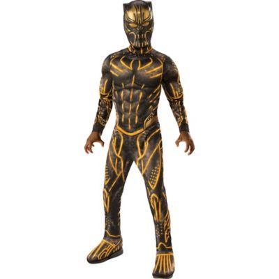 PANTERA Nera Deluxe Costume per bambino Marvel Superhero Film Fumetti Bambini Costume
