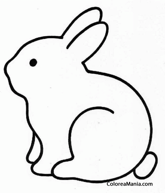 dibujos siluetas de animales | Colorear Conejo silueta (Animales de ...