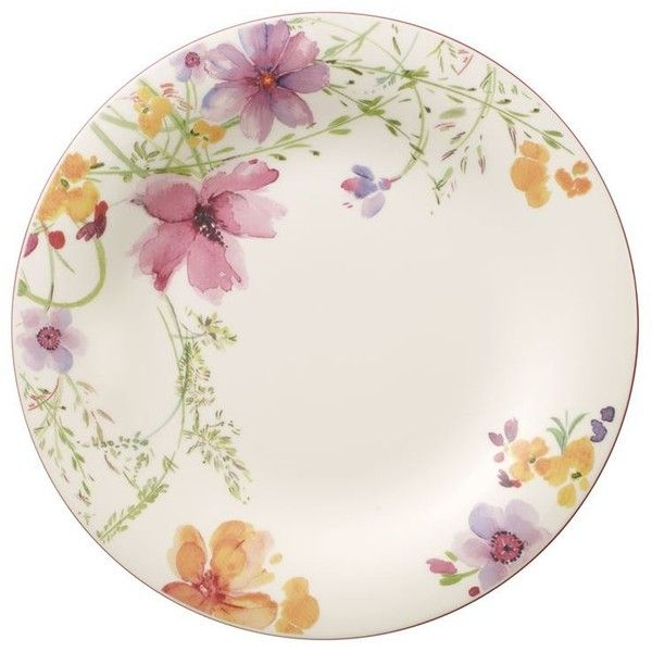 Villeroy & Boch Mariefleur Basic Flat Plate (27cm) ($29) ❤ liked on Polyvore featuring home, kitchen & dining, dinnerware, pink dinnerware, villeroy boch plate, floral salad plates, porcelain salad plates and floral dinnerware