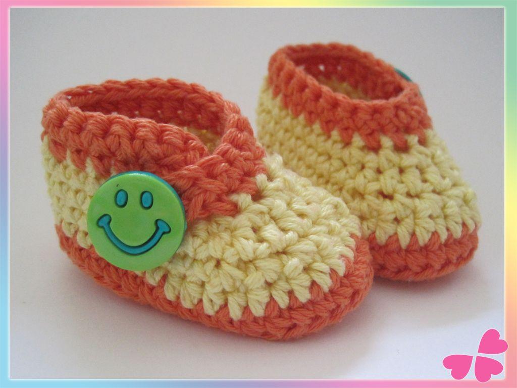 Frühchen Babyschuhe häkeln | Häkeln | Pinterest | Crocheted baby ...