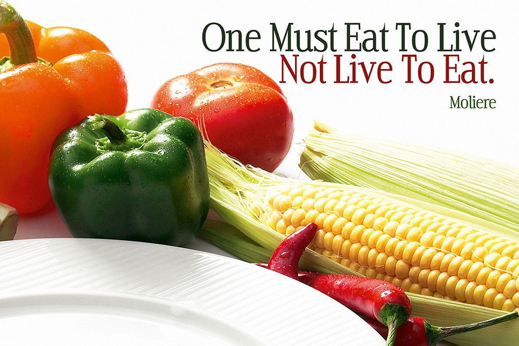 Moliere Eat to Live Motivational Poster