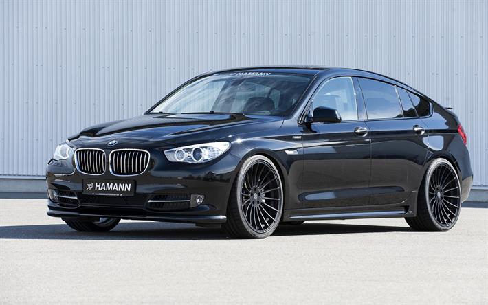 Download wallpapers BMW 5 GT, Gran Turismo, black 5series
