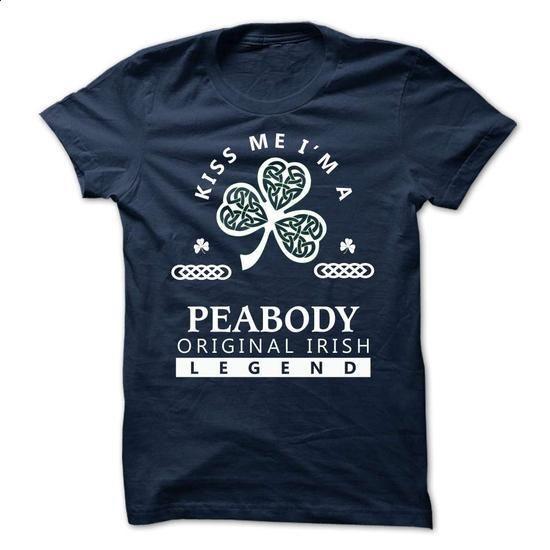 PEABODY - KISS ME I\M Team - #husband gift #cool shirt