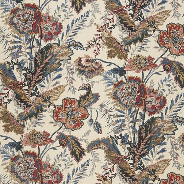 Sandoway Vine   174542 in Document   Schumacher Fabric    Based on a 19th-century French Indienne print, and reinterpreted on a fine linen ground. The allover floral motifs are graphic yet delicate, and echo paisley's exotic patterning.