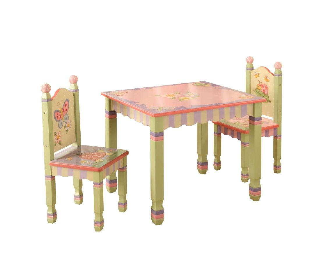 Teamson Table and 2-Chair Set - Pink Garden