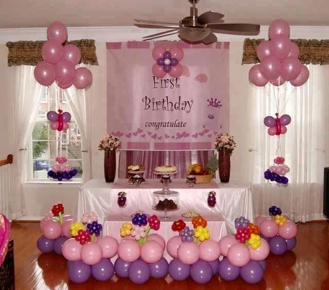 Home design birthday decoration ideas at with balloons house wallpaper of cards party also aprendi esculturas de baloes flor do tipo rosa jardines rh pinterest