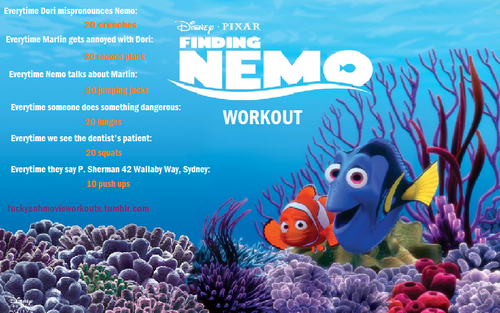 finding nemo movie workout want to see more workouts like this one
