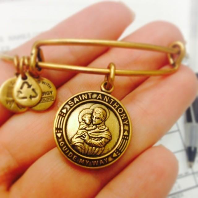 alex and ani bracelet Gold St Anthony