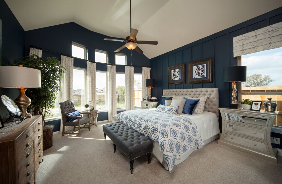 Simple Navy Blue Bedroom Plantation Homes Harvest Green For Your Home - New Blue and Grey Bedroom Amazing