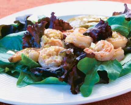 Sauteed Shrimp Salad with Curry