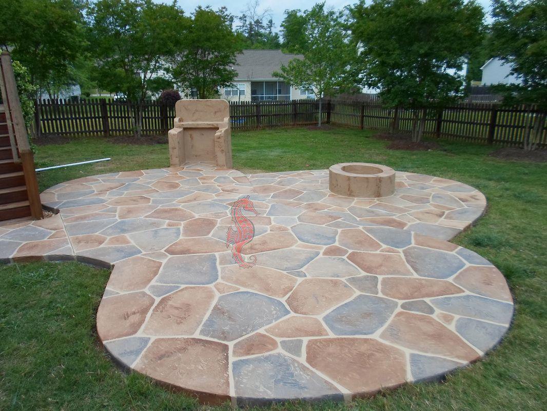Concrete Patios | Greenville, SC | Unique Concrete Design LLP .