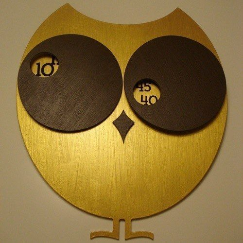 Abstract Owl Wall Clock Rather Than Conventional Clock Hands Both Eyes Move Around To Reveal The Time Unusual Clocks Owl Clock Unique Wall Clocks