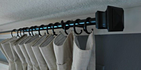 Conduit Curtain Rod With End Caps Diy Curtain Rods
