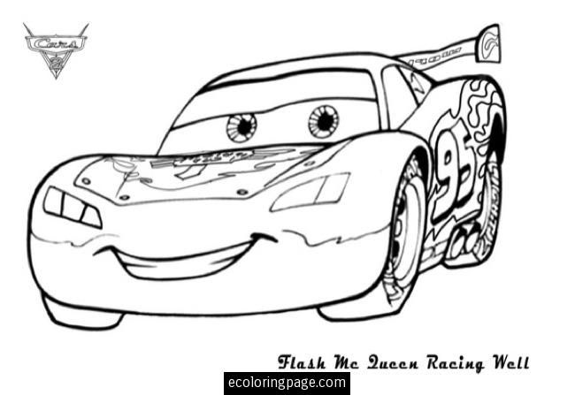 disney pixar cars lighting mcqueen printable coloring page