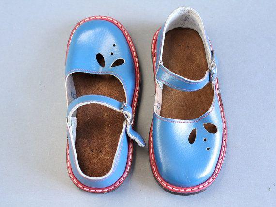 51bbdd94eede4 size 9.5 Soviet children sandals 70s – vintage blue sandals ...