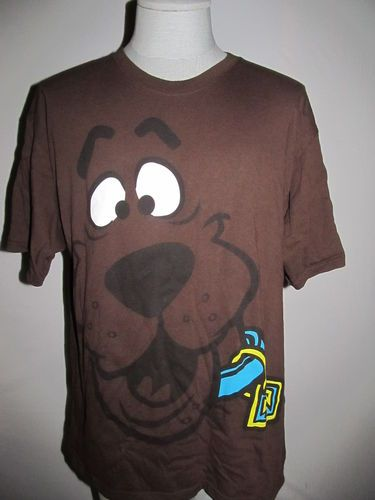 ef70eebb396 Scooby DOO T Shirt XL Brown BIG Face Scooby Dooby DOO Full Face Cotton  Retro