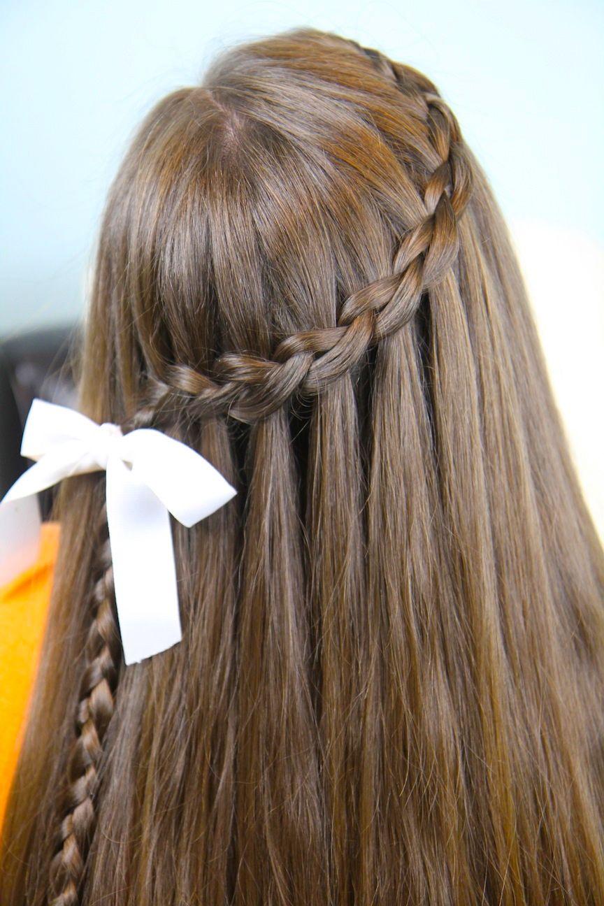 waterfall braid   hair   cute braided hairstyles, cool