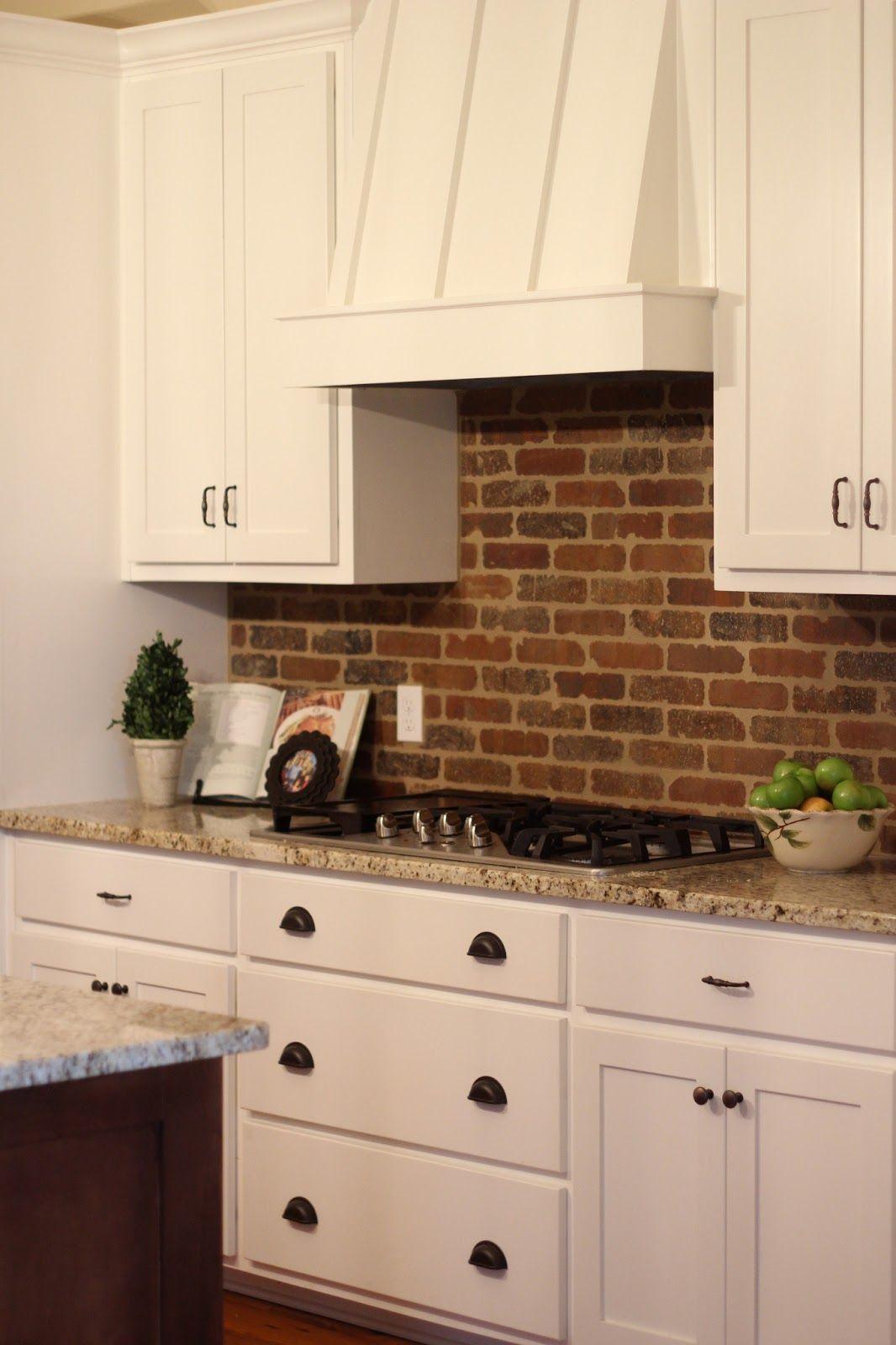 A Modern Farmhouse Trendy kitchen backsplash, Brick