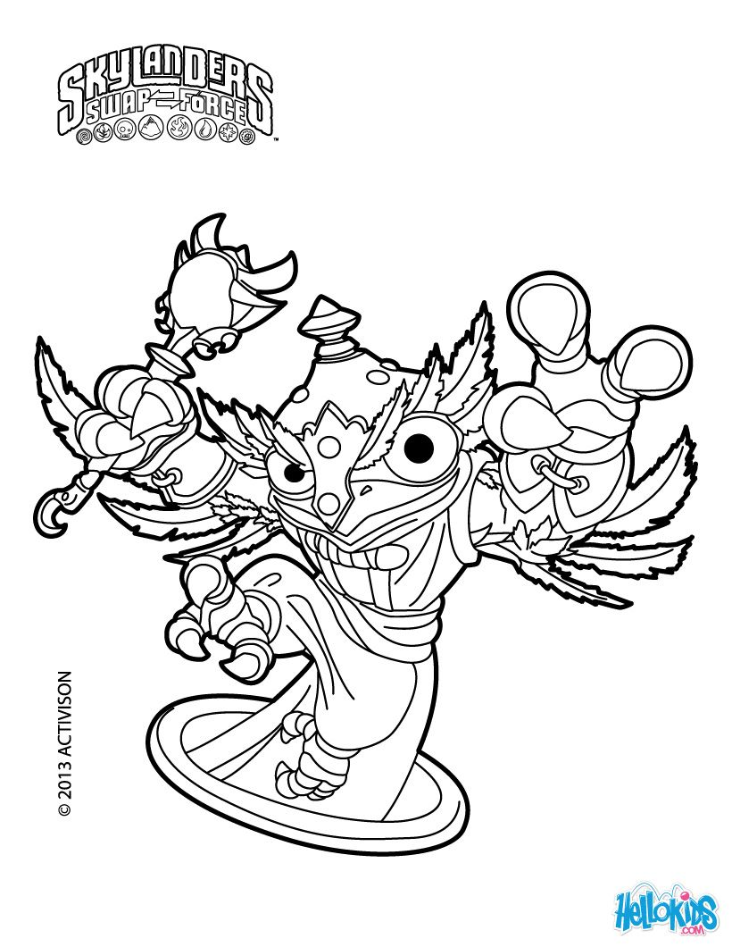 Free coloring pages for skylanders - Skylanders Swap Force Coloring Pages Hoot Loop
