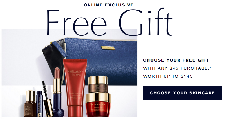 Estee Lauder gift with purchase   7 pcs with $45 purchase