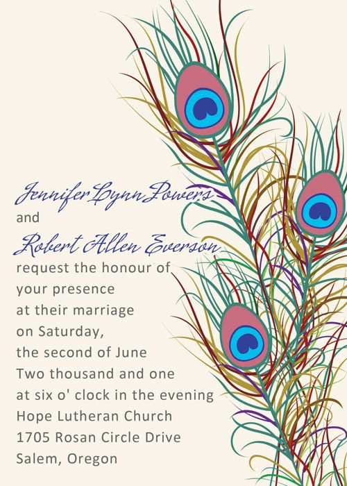 Peacock Wedding Invitations Are Definitely Stylish, Captivating And Fun  .Shop Affordable Peacock Wedding Invitations