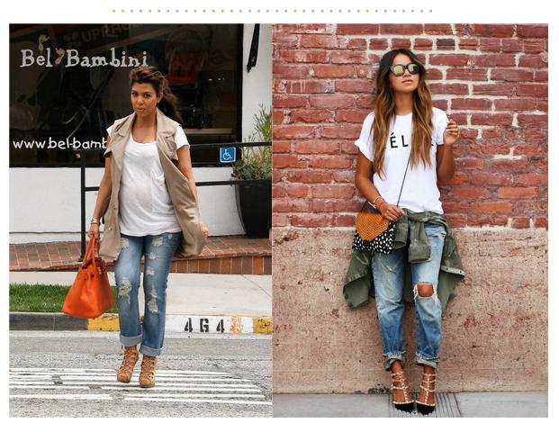 maternity style boyfriend jeans | kourtney kardashian | Making La ...