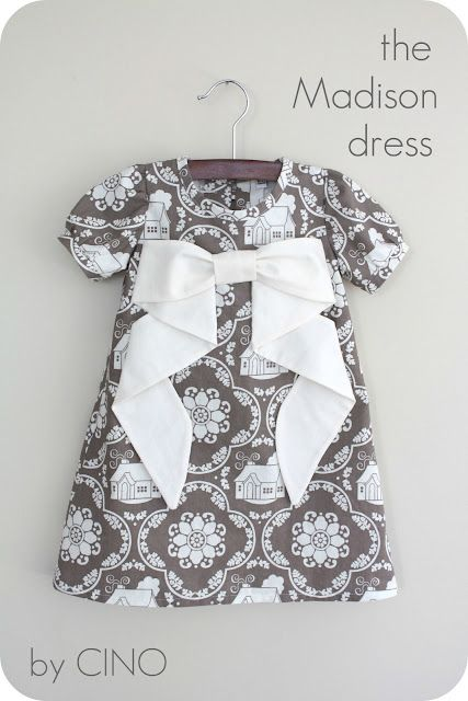 a-line dress with large bow tutorial and pattern guide