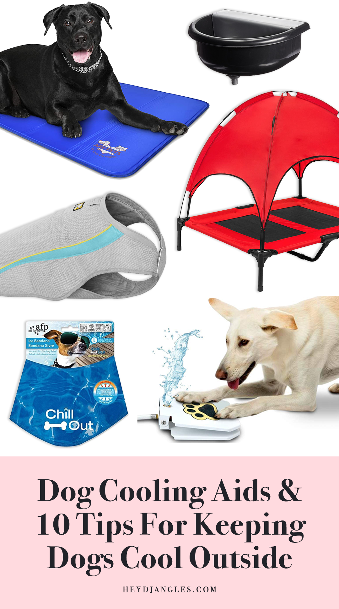 10 Tips For Keeping Dogs Cool Outside During Summer In 2020 Dog Cooling Vest Dog Cooling Mat Puppy Proofing