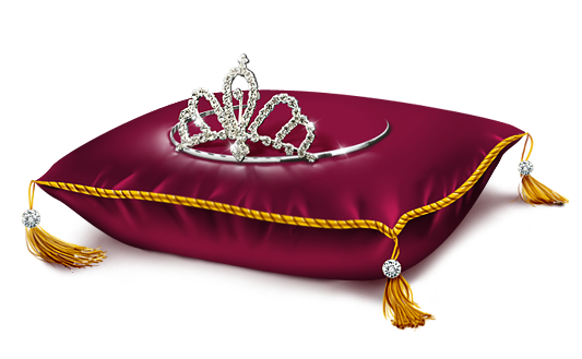 Red Princess Crown Pillow Png Clipart Picture