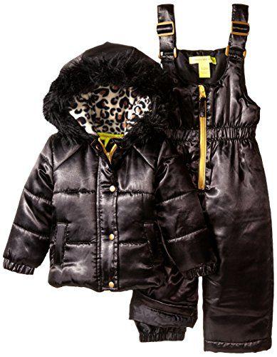 b8897e7cc6f6 Catherine Malandrino BabyGirls 2 Piece Snowsuit Set Black 24 Months ...