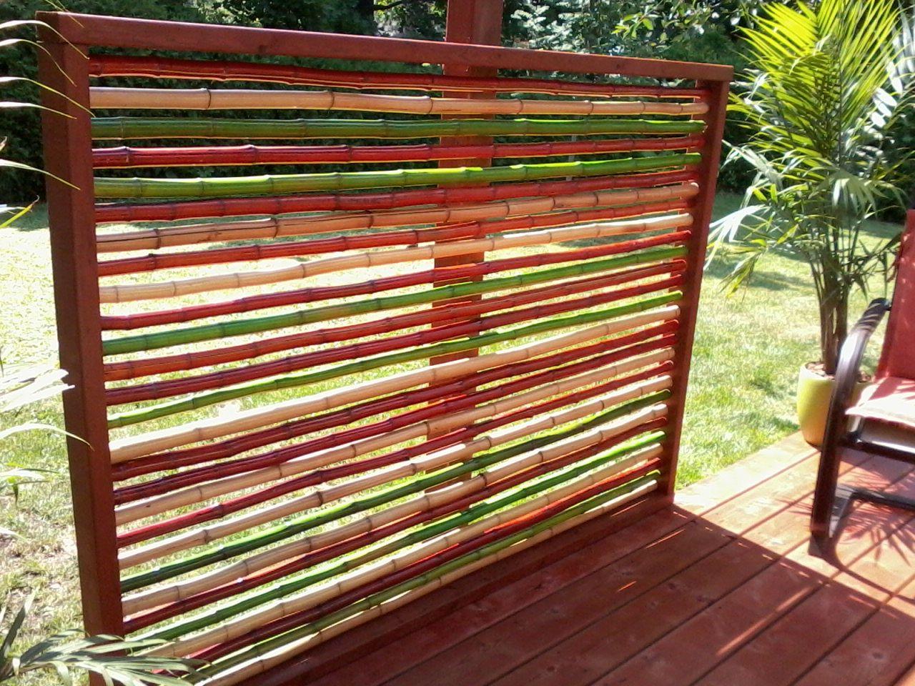 Diy Bamboo Privacy Screen Bamboo Privacy Screen Home Decor Ideas