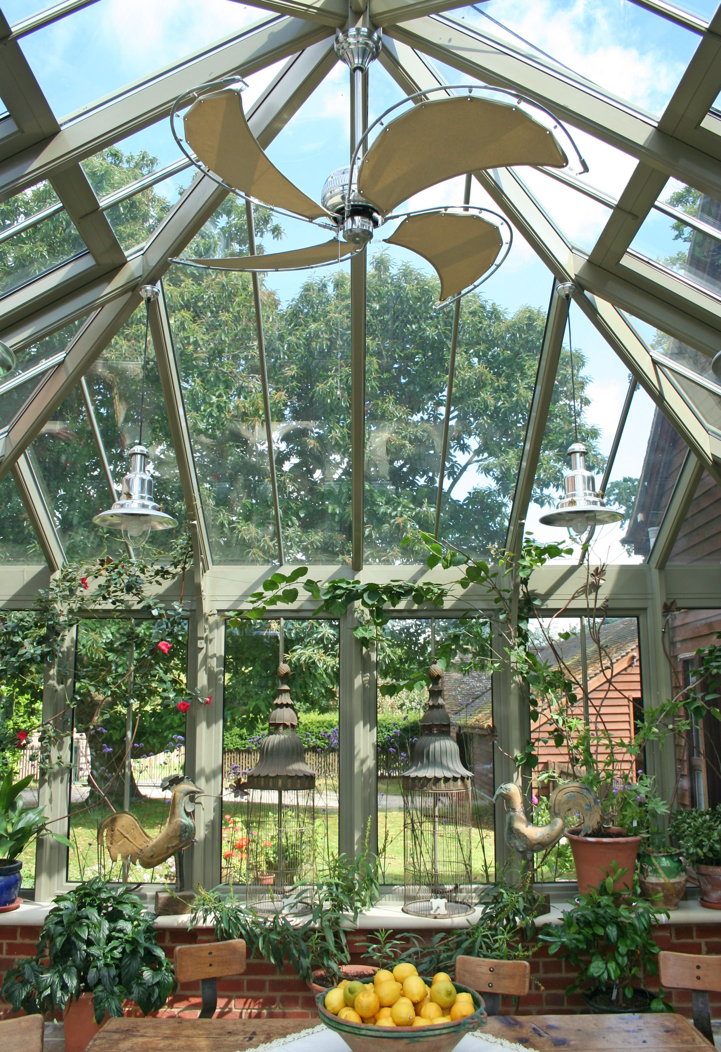 Green Room Garden Design: Think Carefully About Conservatory Colour. This Olive
