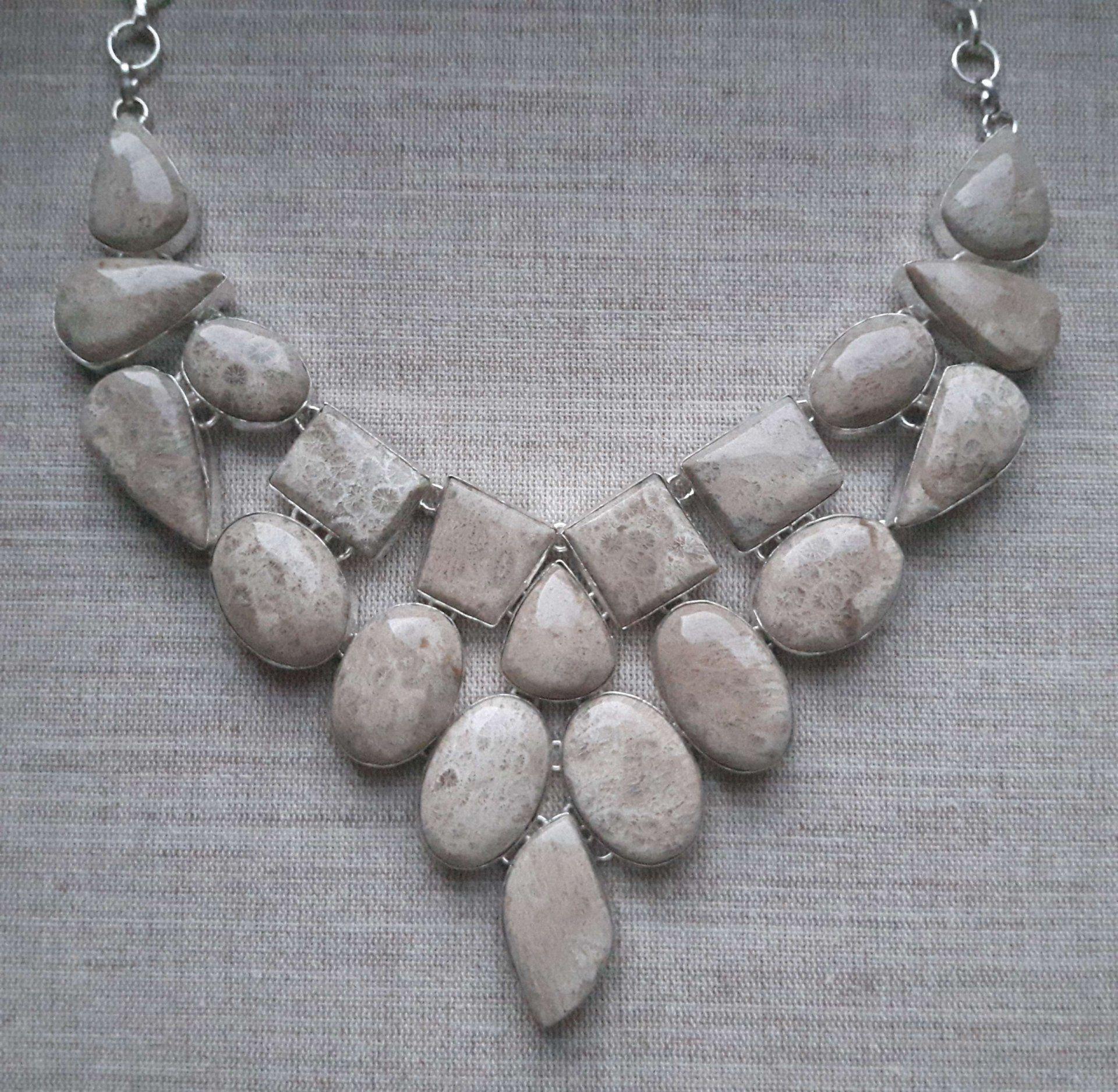 Unikat Srebrny Naszyjnik 925 Kolia Koral Fossil 6502073681 Oficjalne Archiwum Allegro Necklace Jewelry Silver