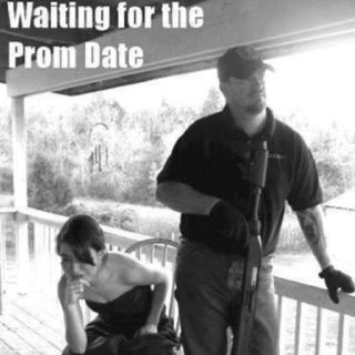 this will be me sitting on the porch waiting for my date with my dad and