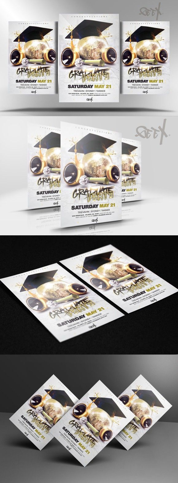 Graduation Party Flyer Templates   Nice Ad