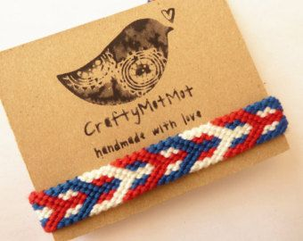bc60ca7dc68f Macrame pulsera amistad tejida hecha a mano pulseras algodón pulsera ...