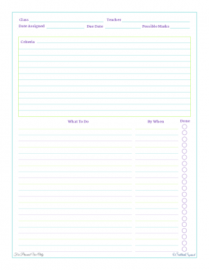home management free printables work planner big project and