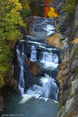 Tallulah Falls Upper Sunset Waterfall Beautiful Waterfalls Beautiful Places