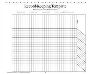 Record Keeping Template Teacher Resource Teacher Resources Teacher Templates