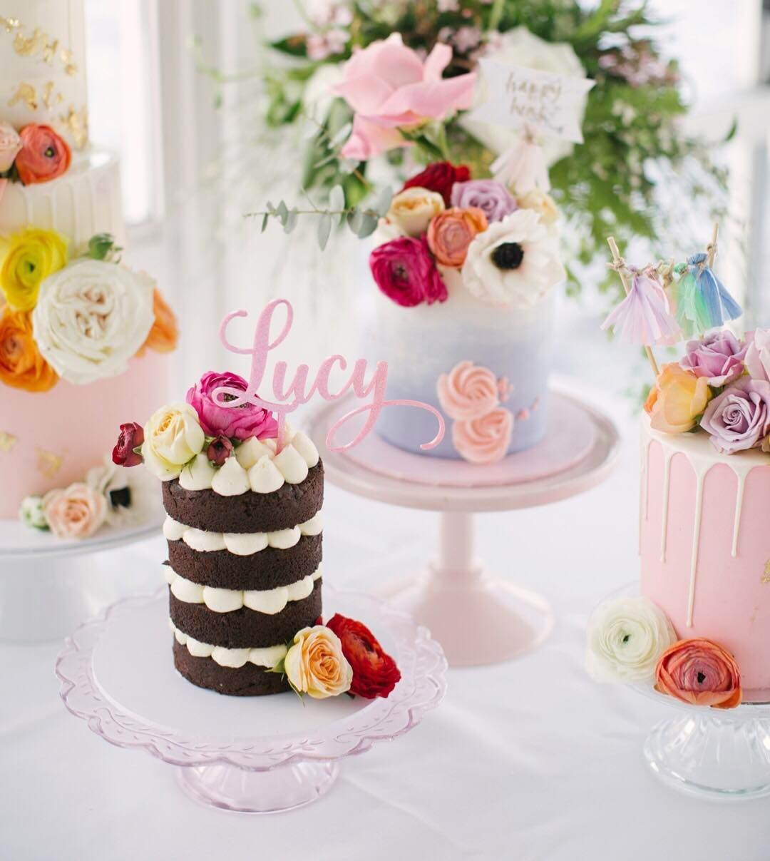 Colourful cakes by blonde baking mama in perth angela