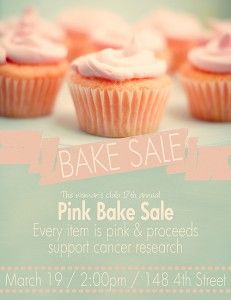pink bake sale flyer template projects to try pinterest flyer
