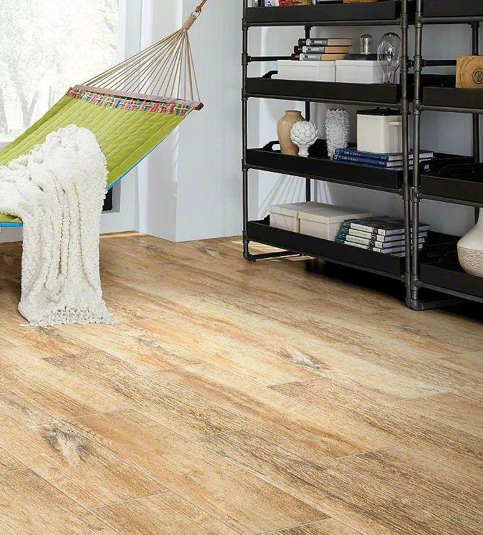 Shaw Channel Plank Brandy Wood Look Tile Floor Wood