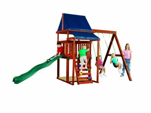 Amazon Com Asheville Wood Complete Ready To Assemble Swing Set Kit