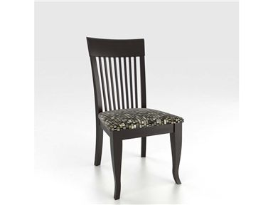 Shop for Canadel Side Chair, CHA9006UN, and other Dining Room Chairs at Englishman's Interiors in Dallas, TX. Body Color: 63 - Matte Black. Seating Color: UN. Available Finishes: Matte M, Antique A.