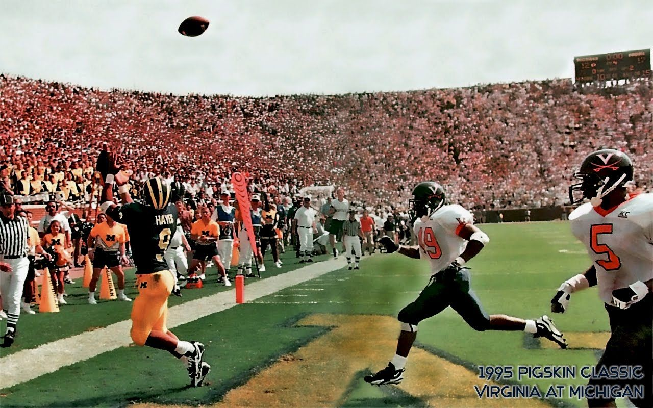 Mercury Hayes makes a game-winning catch against #Virginia securing ...