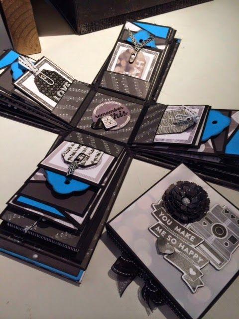 The Little Blue House Minibook Mechanics Explosion Box Designed By