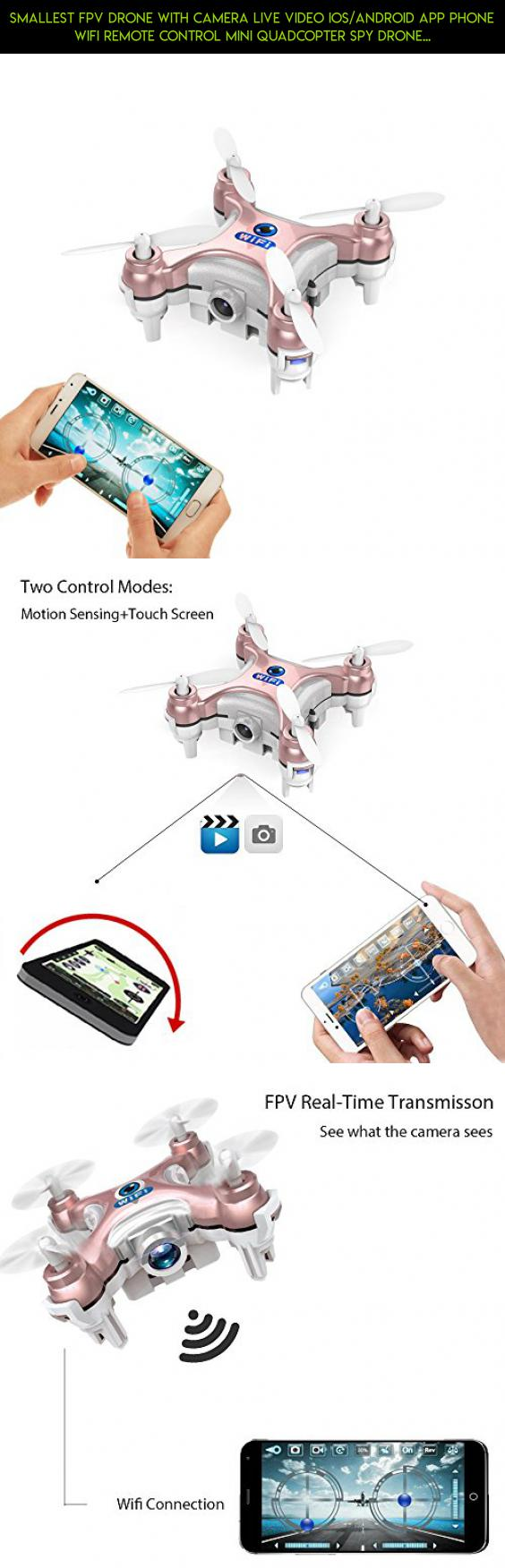 Smallest FPV Drone with Camera Live Video iOS/Android APP Phone Wifi