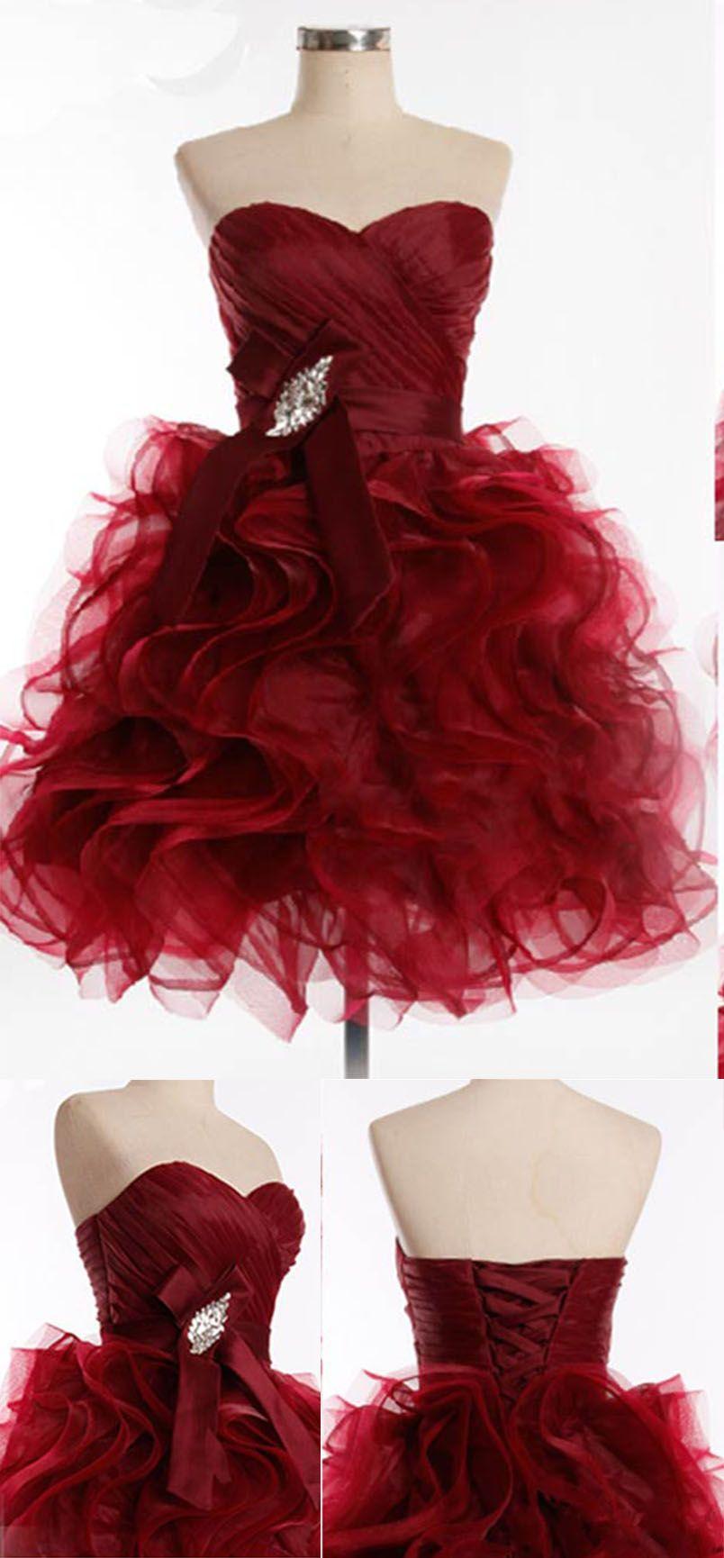 Homecoming dresses homecoming dresswine red homecoming dress