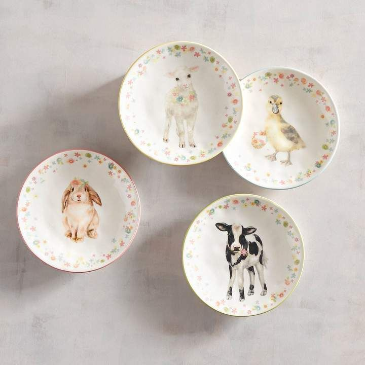 Totally cute Easter Baby Animal Salad Plates (Set of 4) & from Pier one! Totally cute Easter Baby Animal Salad Plates (Set of ...